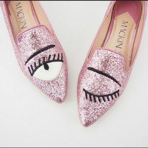 MACKIN J Shoes - WINKING EYE SPARKLE FLATS